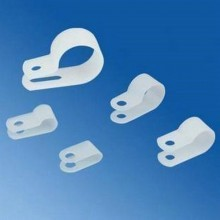 High Quality Wire Saddle - 3.3mm in Cable Clip - White (5 Pack)
