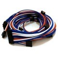 Seasonic Platinum Single Sleeved Modular Cable Set (Blue/White/Orange)
