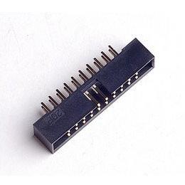 Motherboard USB 3.0 20-Pin Male Header Socket (Black)