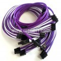 Corsair AX1200i Premium Single Sleeved Power Supply Modular Cables Set (Purple/White)
