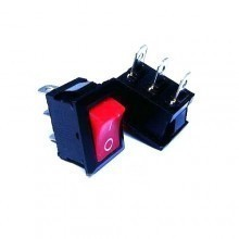 Rectangle Rocker Switch - Red