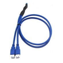 USB 3.0 20-Pin to Dual USB 3.0 External Female (60cm)