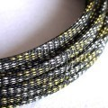 Deluxe High Density Weave Black/Gold/Silver Cable Sleeve (8mm)