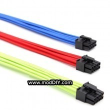 Ultra Soft RGB Cotton Single Sleeved Power Extension Cable 8 Pin CPU