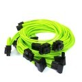 Corsair AXi HXi Premium Single Sleeved Modular Cables (Nvidia Green)