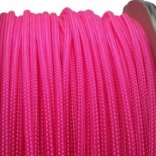 Deluxe High Density Weave UV Pink Cable Sleeve (3mm)