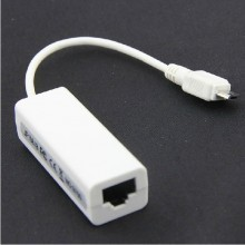 5-Pin Micro-USB to RJ45 Ethernet Network Cable Adapter