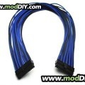 Silverstone Single Sleeved Power Supply Modular Cables Set (Black /Blue)
