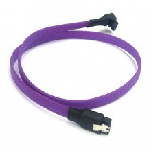 SAS/SSD High-Speed 6Gbps SATA3 Cable High Density Sleeved (Purple)