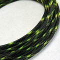 Deluxe High Density Weave Black/UV-Yellow Cable Sleeve (8mm)