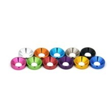 Premium Glossy Aluminum Alloy Countersunk Washer 11 Colors (M3 M4 M5)
