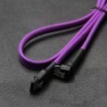 Premium High Speed SATA Sleeved Cable with Latch (UV Purple)