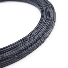 Deluxe High Density Weave Black Cable Sleeve (3mm)
