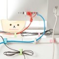 Wire Management Cable Cord Clamp Set with Adhesive Backing (4pcs)