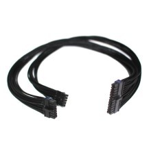 Corsair AX Professional Series Individually Sleeved Modular Cable (ATX Main Mother Board Power Connector 24 pin) All Black