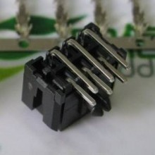 3.0mm Pitch 6-Pin Mini PCIe Male Header Connector - 90% Angled - Black