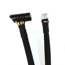 Mini PC Mini 3-Pin to SATA Power Sleeved Cable (50cm)