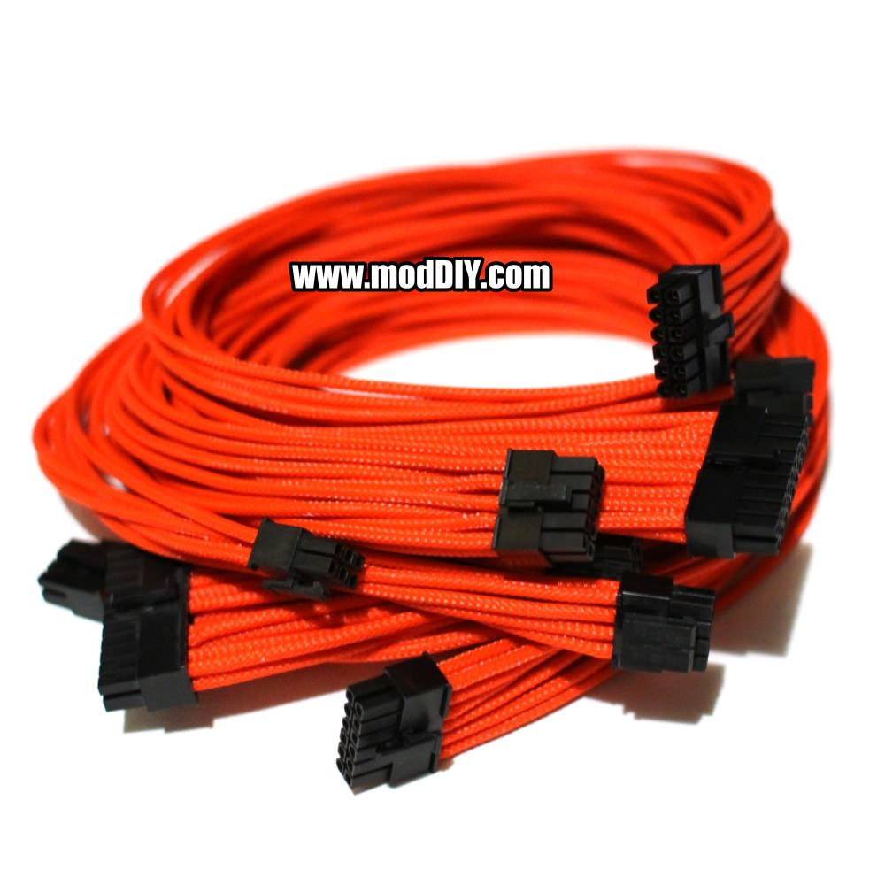 Power Supply Cables : Corsair ax series single sleeved power supply modular