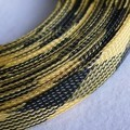 Deluxe High Density Weave Black/Yellow Cable Sleeve (16mm)
