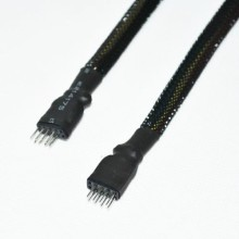 High Quality Sleeved USB 10-Pin Internal Header Extension Cable (30cm)