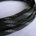 Deluxe High Density Weave Black/Silver Cable Sleeve (12mm)