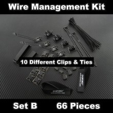 Premium Computer Cable Wire Management Kit - Set B (66pcs)