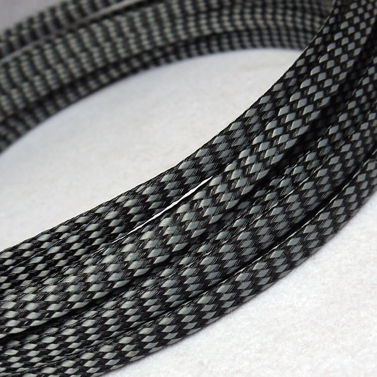 Deluxe PET PP Cotton Braided Sleeving (Grey 4mm) - modDIY.com