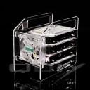 QDIY Professional Modder Acrylic 4-Bay HDD Rack Tray (Y4F)