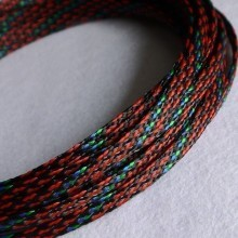 Deluxe PET PP Cotton Braided Sleeving (Red/Blue/Green 8mm)