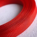 Deluxe High Density Weave Red Cable Sleeve (16mm)