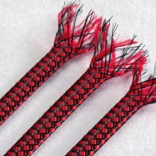 Deluxe PET PP Cotton Braided Sleeving (Red 12mm)