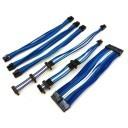 Silverstone Single Sleeved Modular Cables Set (Blue/UV-Blue/White)