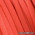 Deluxe High Density Weave Orange Red Cable Sleeve (6mm)