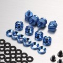 Jonsbo Premium PC Mod Aluminium Alloy Screws & Washer Set (95pcs) Blue