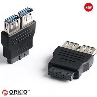 Orico Motherboard 20-Pin to USB3.0 x 2 Header Adaptor Convertor