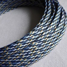 Deluxe PET PP Cotton Braided Sleeving (Black/Yellow/White 12mm)