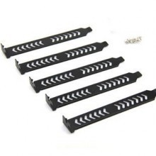 Vented PCI Expansion Slot Covers (5 Pack) Nickel