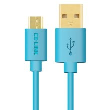 Premium Micro USB Fast Charge Cable with Gold Plated Connector (Blue)
