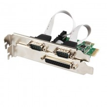 Combo 2-Port DB-9 Serial + 1-Port DB-25 Parallel PCI-e Controller Card