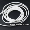 Deluxe High Density Weave White Cable Sleeve (25mm)