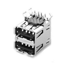 USB A Type Socket, Double Deck, Thru-Hole for PCB