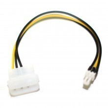 4-Pin Molex Connector (Male) to Standard 3-Pin Fan Connector (Male)