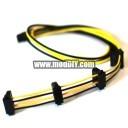 Premium Single Braid Modular Power Supply Molex IDE/ATA x 4 Cable (Black/Yellow)
