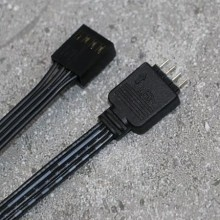 4-Pin Fan Connector Female LRC1.0 to 4-Pin RGB Male Adapter Cable