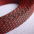 Deluxe High Density Weave Black/Red Cable Sleeve (25mm)