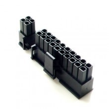 20+4-Pin Motherboard Power Female Connector - Black