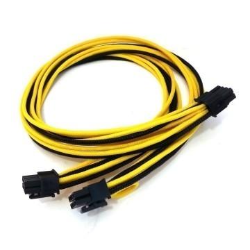 Seasonic 3rd Generation 8 Pin Dual 6+2 Pin PCIE Cable (Black/Yellow)