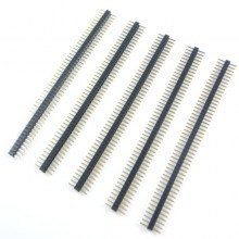 1.27mm Pitch 50-Pin Make Pin Header (Black)