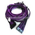 OCZ ZX Series Single Sleeved Power Supply Modular Complete Cables Set (Black/Purple)