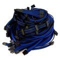Seasonic X Series Premium Sleeved Modular Cable Set (Black/Blue)